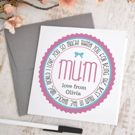 Personalised Mum Card